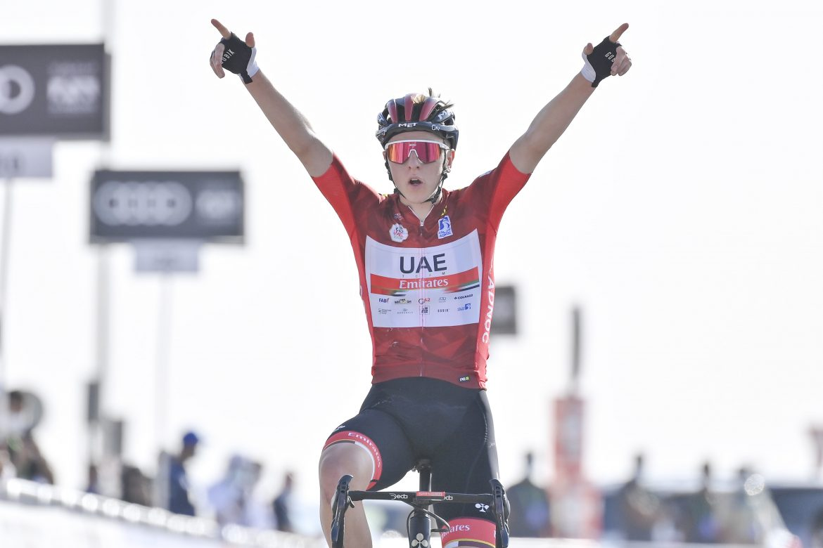 Tadej Pogačar wins Stage 3 of the UAE Tour and increases the lead in the GC