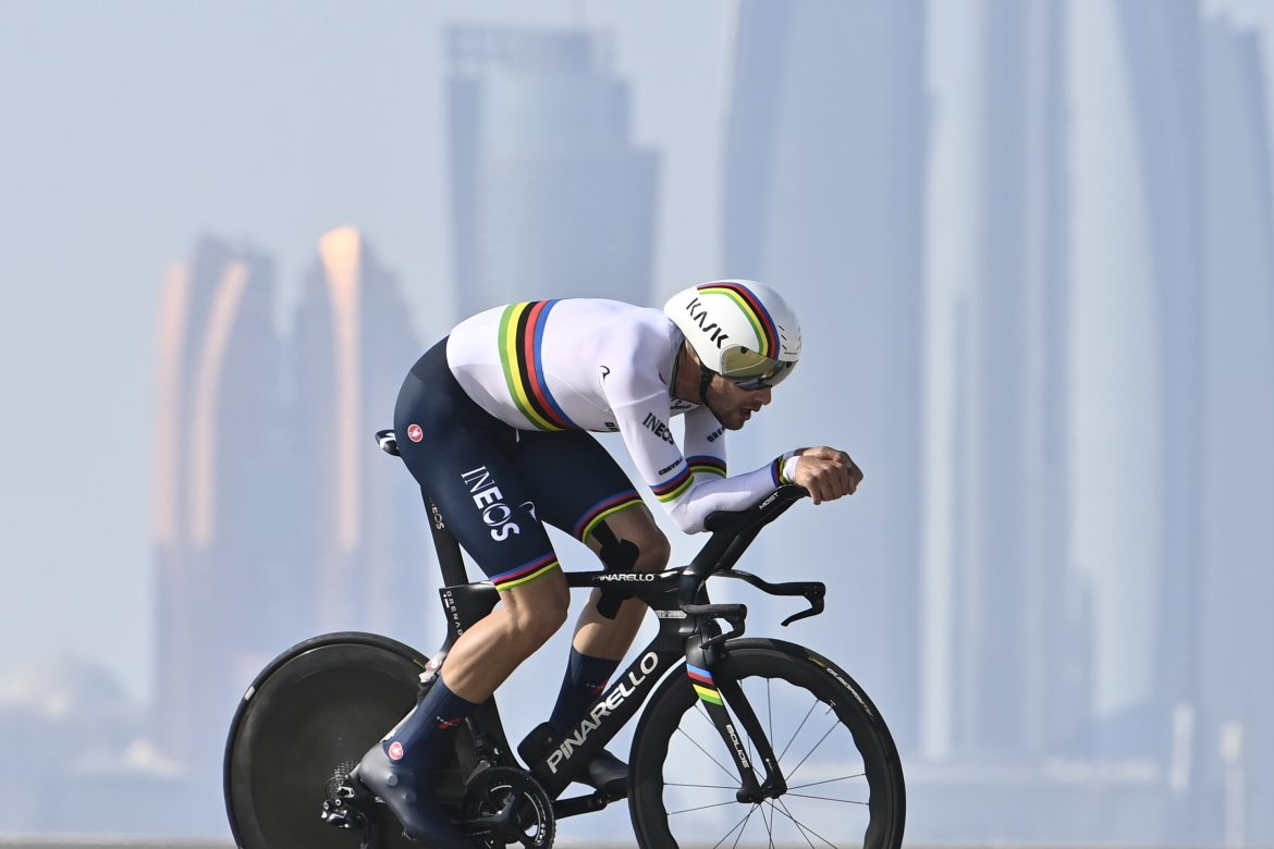 Filippo Ganna wins Stage 2 of the UAE Tour, Tadej Pogačar is the new Red Jersey