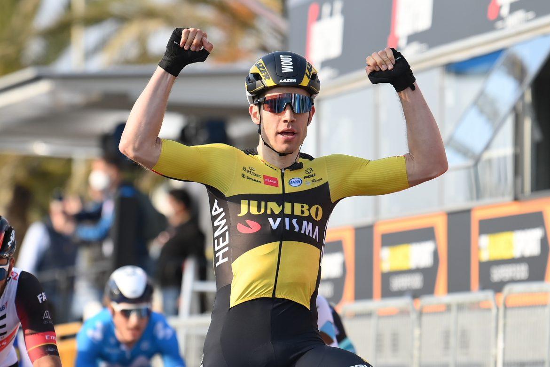 Wout Van Aert wins Stage 1 of the Tirreno-Adriatico