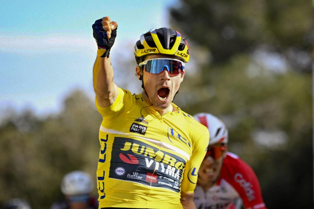Roglic sprints to second stage win in Paris-Nice and gains on competitors