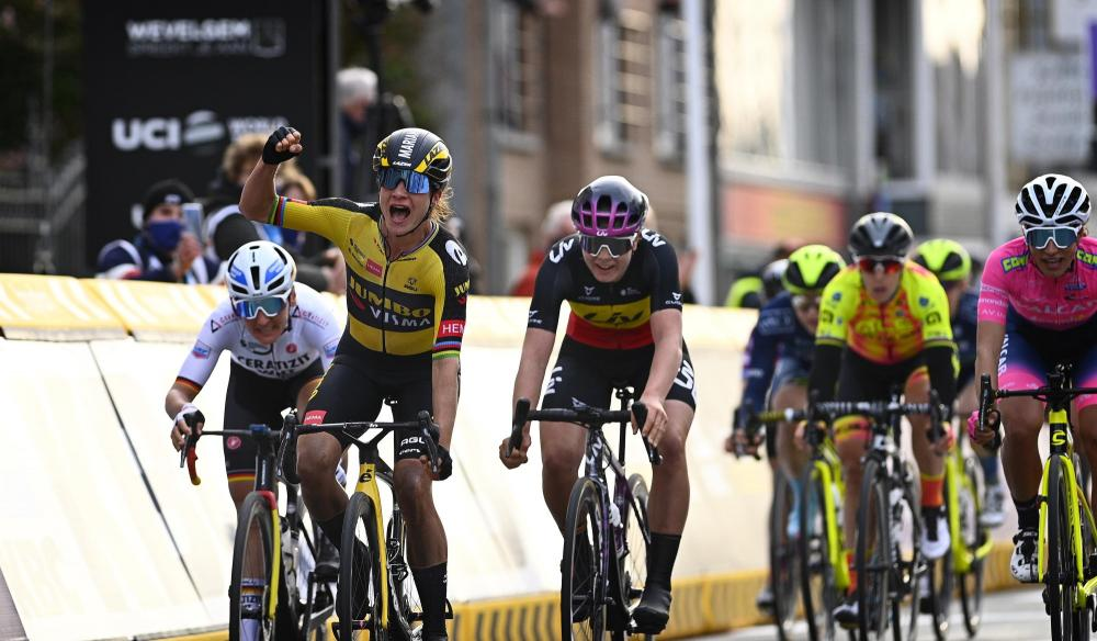 Vos gives Team Jumbo-Visma Women first ever victory with win in Gent-Wevelgem