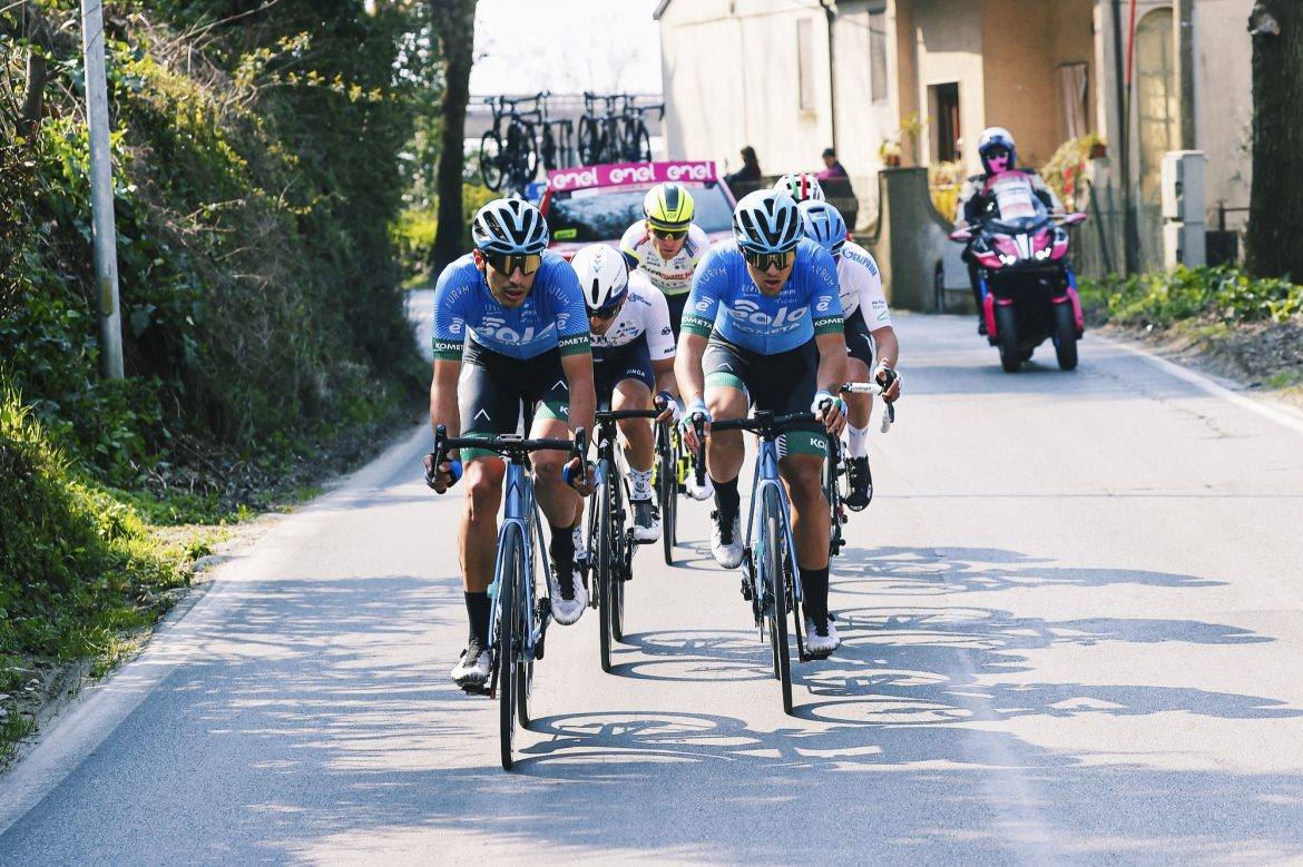 Vincenzo Albanese takes first podium for EOLO-KOMETA with his effort in Monte Pitoro
