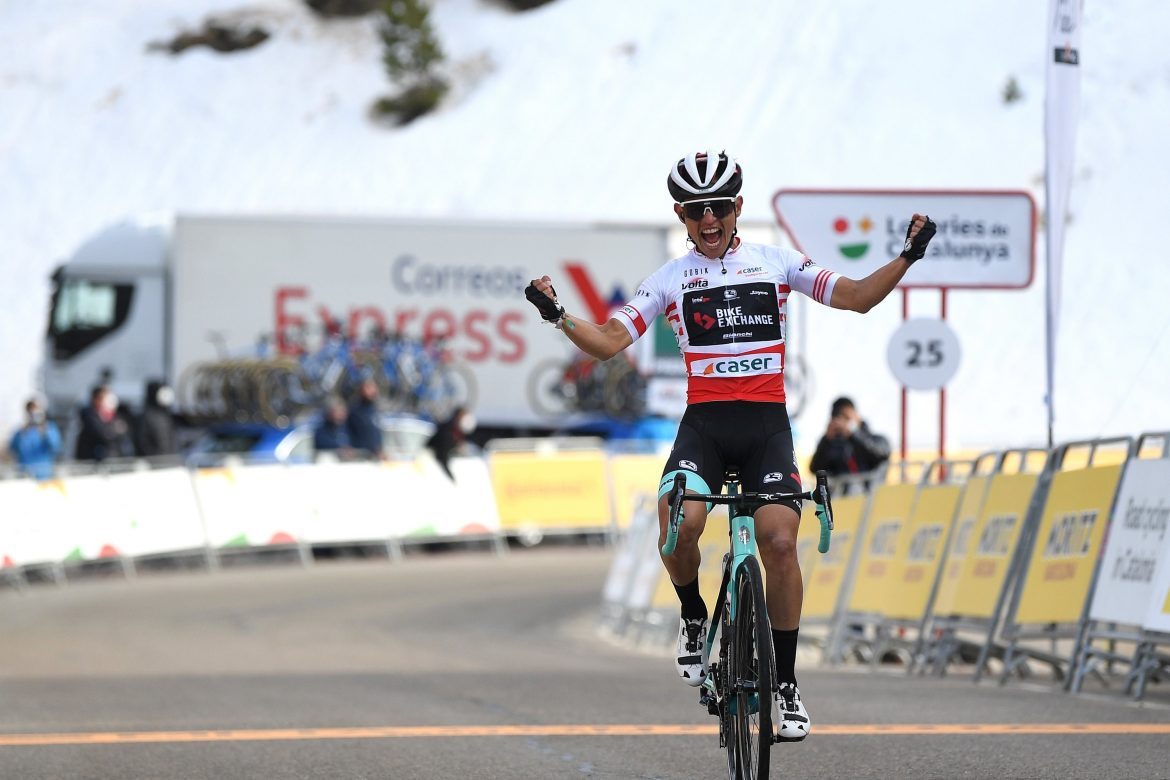 Chaves shines to give Team BikeExchange their first WorldTour victory of the season with a phenomenal solo win