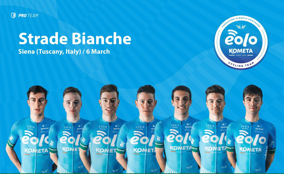 Strade Bianche: the WorldTour embraces the EOLO-KOMETA Cycling Team