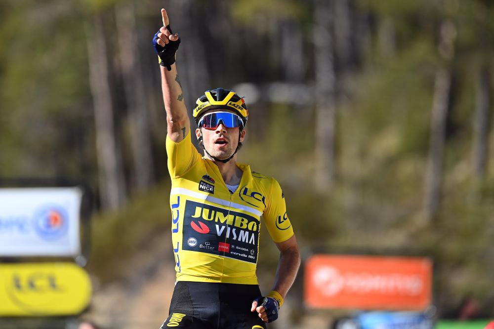 Roglic claims third stage victory in Paris-Nice on La Colmiane