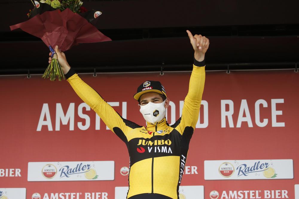 Van Aert wins Amstel Gold Race after nerve-racking millimetre sprint