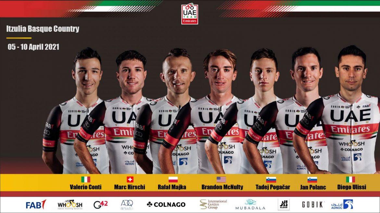 Pogačar leads UAE Team at Basque Country