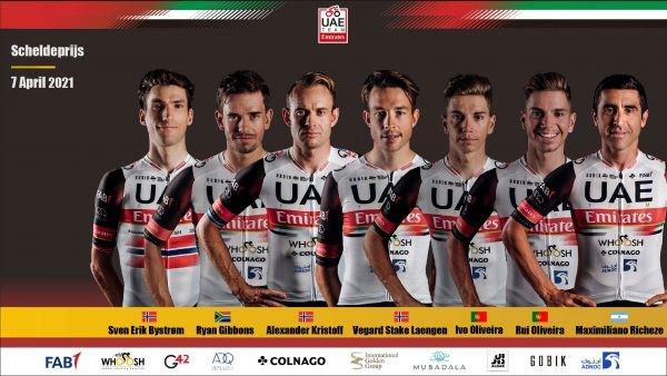 UAE Team Emirates gear up for Scheldeprijs