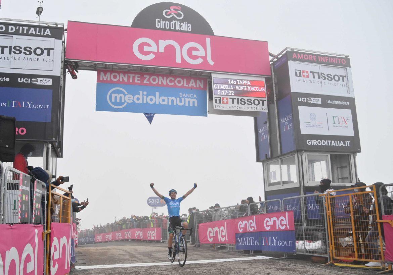 Lorenzo Fortunato wins stage 14 of the Giro d'Italia, Egan Bernal increases his lead in the GC