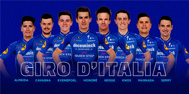 Deceuninck – Quick-Step to Giro d'Italia