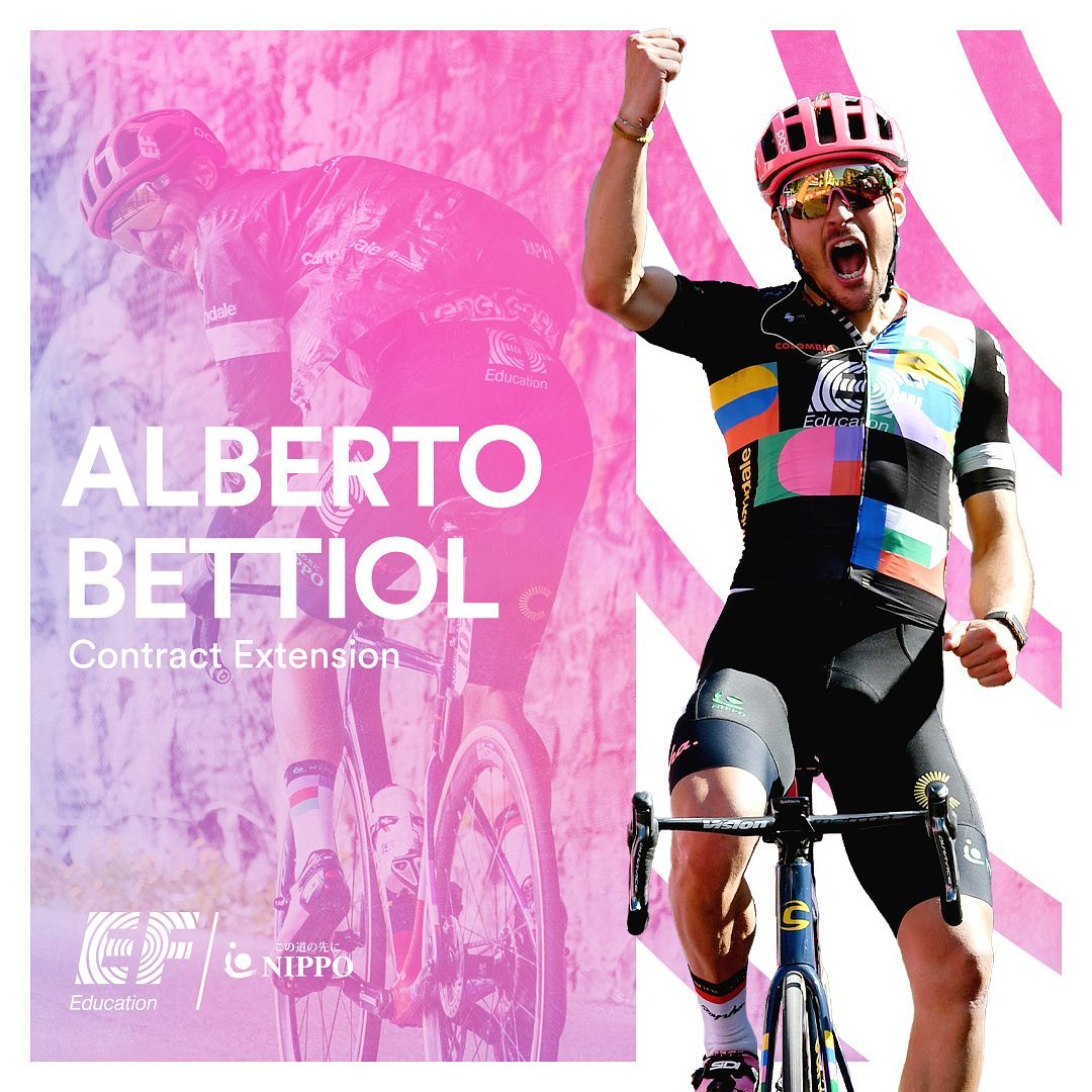 Alberto Bettiol extends his stay with EF Education-NIPPO