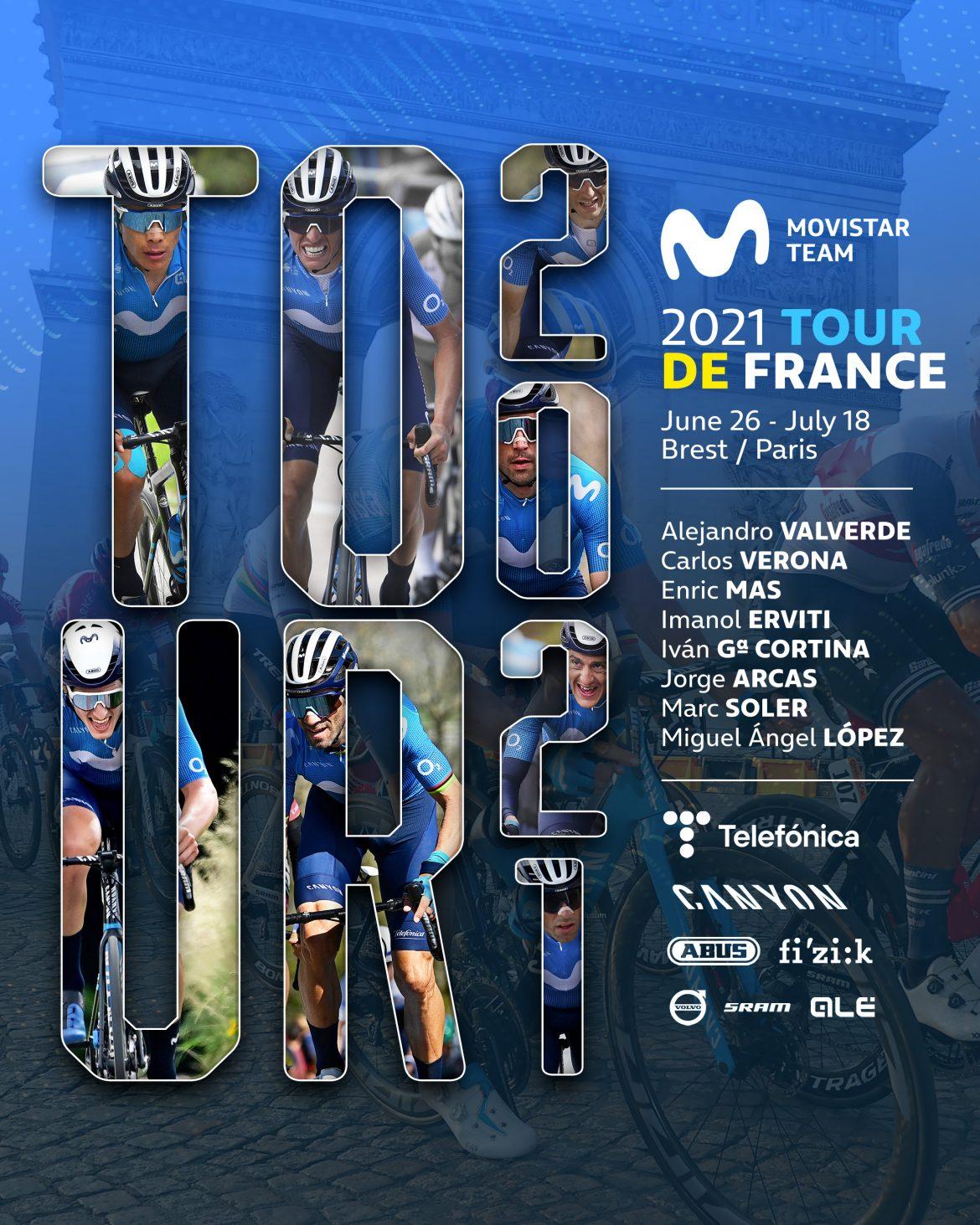 Movistar Team confirms 2021 Tour de France lineup
