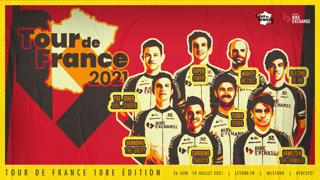 Team BikeExchange name a well-rounded squad with stage ambitions for the  2021 Tour de France