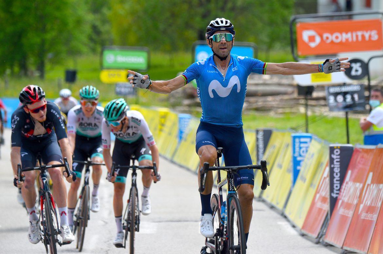 Alejandro Valverde wins Critérium du Dauphiné stage 6