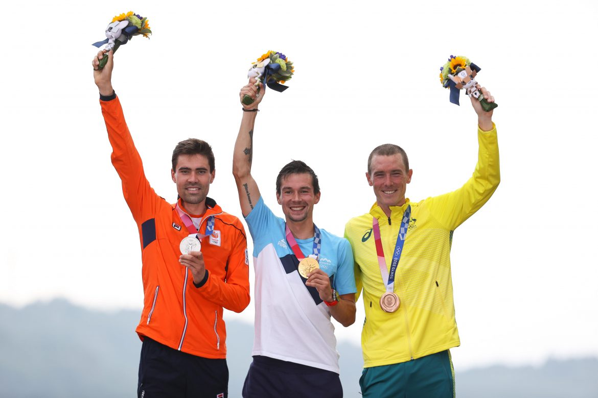 Roglic and Dumoulin race to gold and silver in Olympic time trial