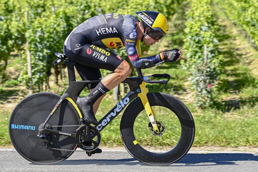 Van Aert blasts to time trial victory in Tour de France