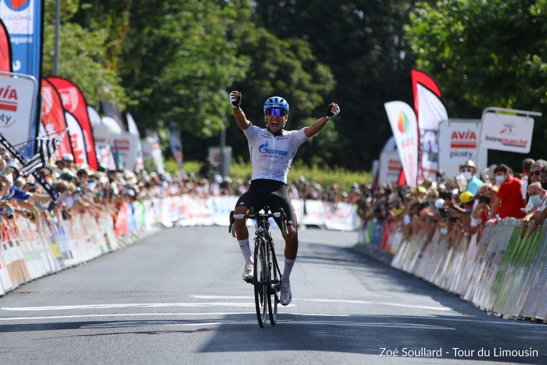 Simone Velasco wins solo and takes the third stage of Tour du Limousin