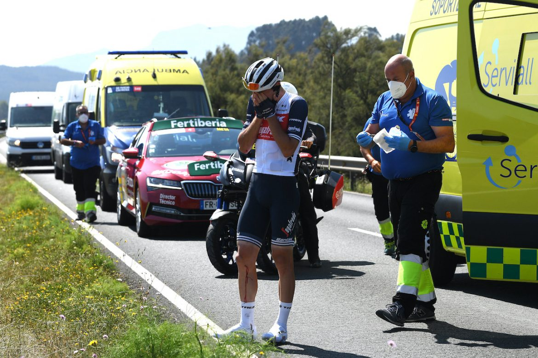 Giulio Ciccone abandons Vuelta a Espana after crash