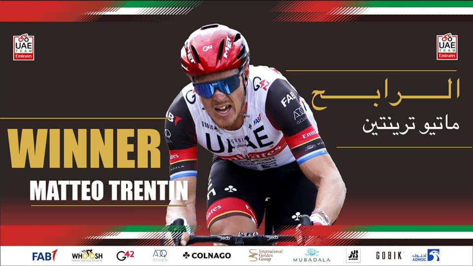 Matteo Trentin won the Trofeo Matteotti