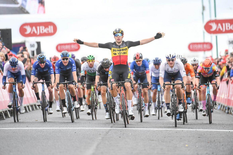 Wout van Aert wins the AJ Bell Tour of Britain in Aberdeen