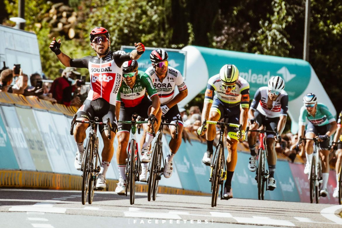 Caleb Ewan powers to stage victory at Benelux Tour
