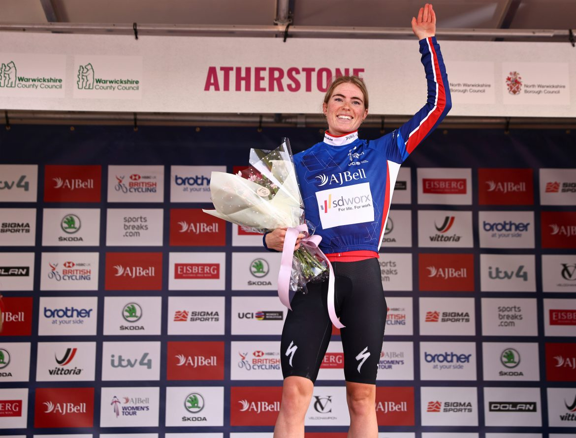 Demi Vollering moves into AJ Bell Women's Tour lead after sensational rider in Atherstone