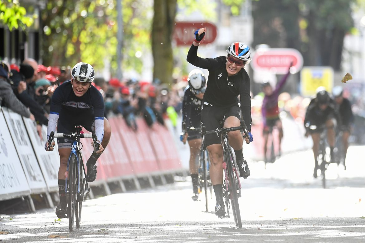 Amy Pieters wins Stage Two of the AJ Bell Women's Tour in Walsall